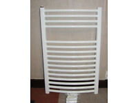 Homebase Valentino Curved Heated Towel Radiator - 764mm x 500mm - White