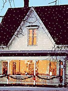 Light Flurries Snow Show Christmas House Lighting Outdoor Decoration OPEN BOX