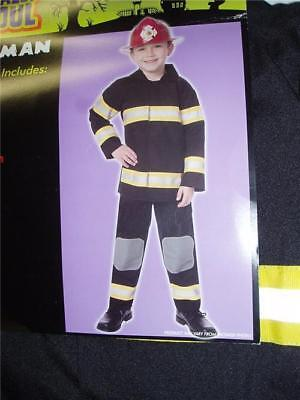 HALLOWEEN COSTUME Totally Ghoul Fireman Large