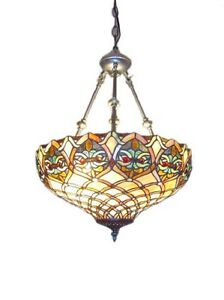 Tiffany chandelier ebay tiffany style hanging ceiling light stained glass pendant chandelier lighting mozeypictures Images