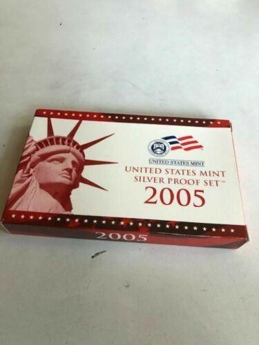 2005 S US Mint Silver Proof Set w/ State Silver Quarters(11 Piece Set)
