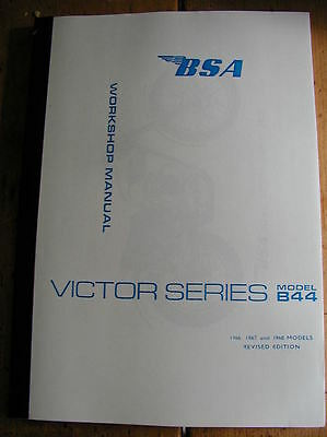 new BSA B44 VICTOR ENDURO + VICTOR SPECIAL WORKSHOP MANUAL 1966-8 pt no 00-4128