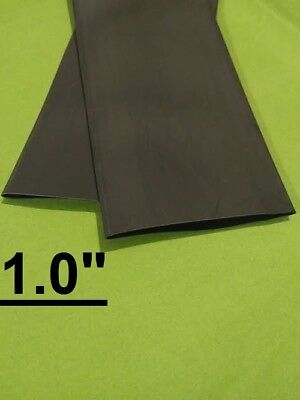 1.0 Inch 25mm Black 21 Heat Shrink Tubing Polyolefin 1 Foot