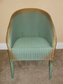 Lloyd Loom chair in need of some TLC £30