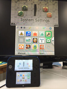 Nintendo 2DS with installed capture card
