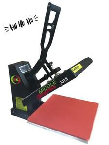New! ho ho ho Sale 15x15 Heat Press w/ Teflon Coated Heat Platen $269 --- Promo sale
