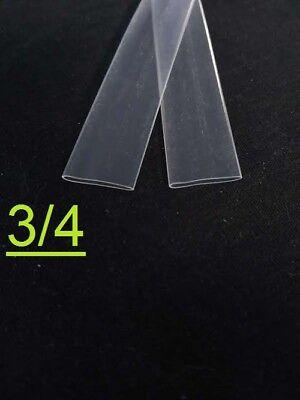 34 Inch 19mm Clear 21 Heat Shrink Tubing Polyolefin 1foot