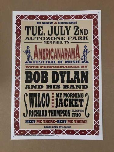 Bob Dylan My Morning Jacket Wilco Memphis TN 2013 Rare Original Concert Poster