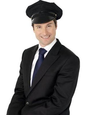 Smi - Karneval Kostüm Zubehör Chauffeur Hut schwarze - Chauffeur Kostüme