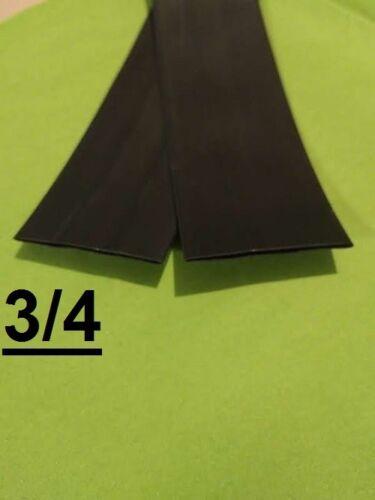 """3/4 """" inch 19mm BLACK  2:1 heat shrink tubing polyolefin (1 FOOT)"""