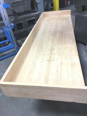 Table Maple Wood Working Bench 96 X 30 X 36h Bakers Dream Table