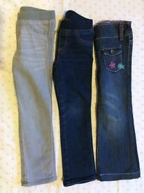 3 jeans age 3-4 years Excellent condition