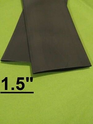 1.5 Inch 38mm Black 21 Heat Shrink Tubing Polyolefin 1 Foot