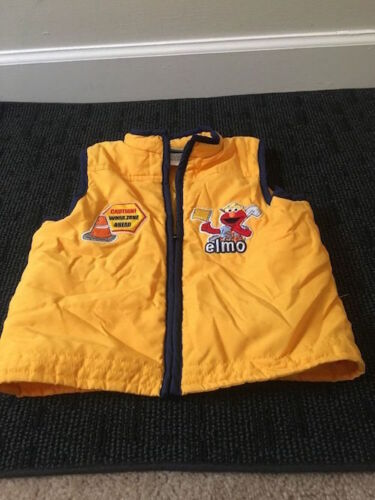 Sesame Street Toddler Kids Vest Coat Jacket Sz 4T Multicolor Clothes