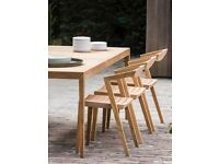 Outdoor Teak Dining Chairs x 4 or 8 Designed by Jacob Berg - Indoor / Out
