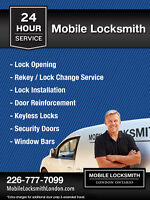 24 Hr Mobile Locksmith London, Ontario (226) 777-7099