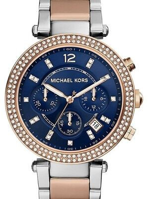 Michael Kors Women's MK6141 Chronograph Parker Two Tone Stainless Steel Watch