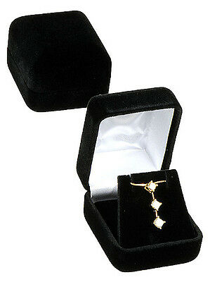 Black Velvet Pendant Earring Jewelry Gift Box 1 78 X 2 18 X 1 12h