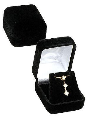 Black Velvet Pendant Earring Jewelry Gift Box 1 78 X 2 18 X 1 12h