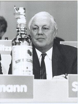 Foto Ministerpräsident GERHARD STOLTENBERG - SW Pressefoto Vintage von 1989 CDU
