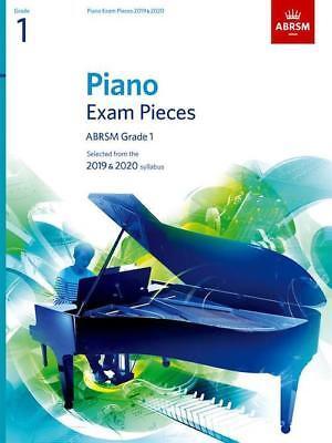 ABRSM Grade 1 Piano 2019-20 Selected Exam Pieces Sheet Music Book 9781786010193
