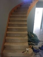 OAK TREADS, REMOVE OLD CARPET,  CAPPING,  CALL NOW