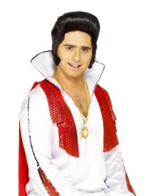 Elvis Presley Deluxe Herren Perücke Fasching Verkleidung Karneval - Elvis Presley Kostüme Perücke