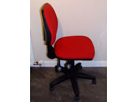 Office Gas Lift Computer Desk/Workstation Operator Swivel Chair - Bluefish RED