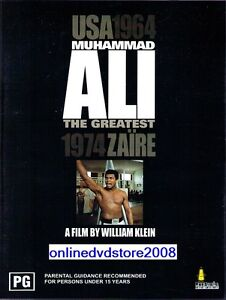 MUHAMMAD ALI The GREATEST (USA 1964 - 1974 ZAIRE) BOXING DVD NEW & SEALED