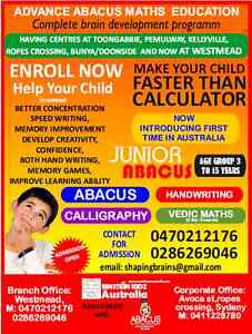 ABACUS and VEDIC Mathematics Classes Westmead Parramatta Area Preview