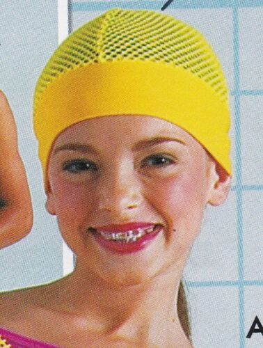 Lot of 5 Bright yellow Fishnet skull caps Fun Accessory for Dance or theatrical