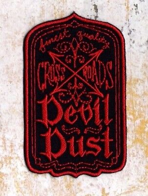 Devil dust patch cross roads devil dust crest Iron to Sew on Badge
