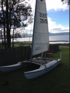 14' Catamaran and Trailer Figtree Wollongong Area Preview