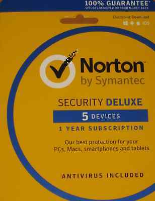 Norton Security Deluxe   5 Devices   Pc Mac Mobile Download Code