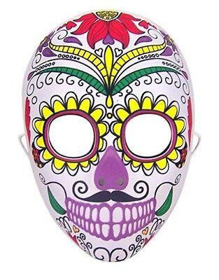 Halloween Kostüm Tag der Toten Zuckerschädel - Halbe Schädel Gesicht Halloween Kostüm