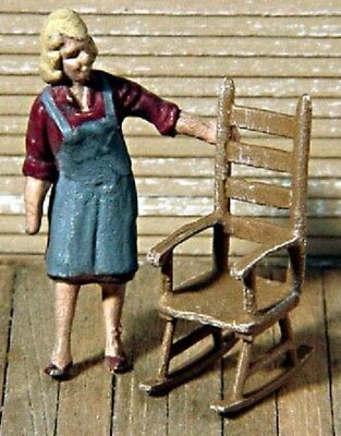 S SCALE/Sn3/Sn2 WISEMAN MODEL SERVICES DETAIL PARTS: S337 2 ROCKING CHAIRS KIT