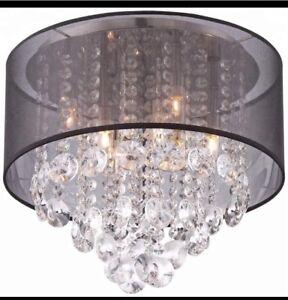 Crystal shade chandelier for bedroom on sale