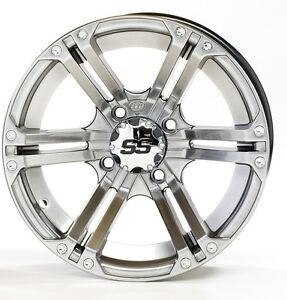 One New ITP SS212 Platinum Wheel, 12X7, 4/110, 2+5 Offset