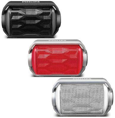 Philips Shoqbox Mini Bluetooth Wireless Rugged Speaker Water Resistant with Mic Mini Speaker Mic