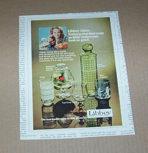 1973 print ad - Libbey Glass home Glassware Owens-Illinois VINTAGE Advertising