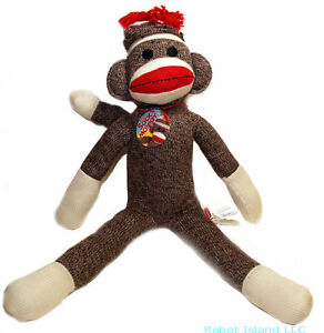 Schylling-20-Red-Heel-Sock-Monkey-Plush-Doll