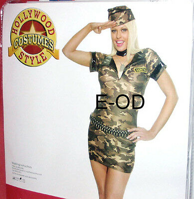 Sexy Army Girl Womens Costume Sz Small S/M New in Package Hollywood Costumes
