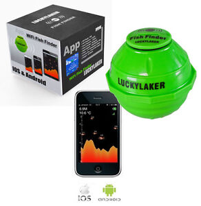 Lucky laker sonar wireless wi fi fish finder kayak boat for Wifi fish finder