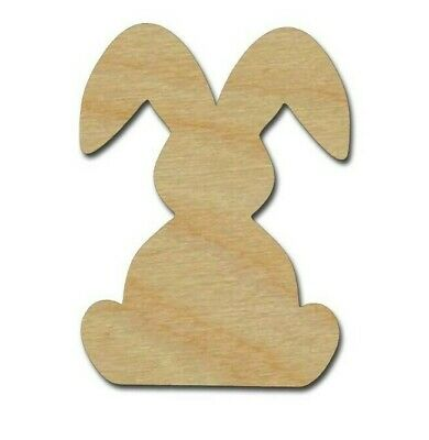 Rabbit Unfinished Wood Cut Out Bunny Shapes Variety of Sizes Made In USA (Shape Of Usa)