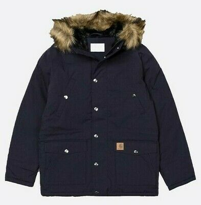 Carhartt IO21869 Mens Trapper Parka Jacket in Navy S,M,L,XL,XXL - RRP £240 NEW