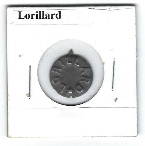 Lorillard Chewing Tobacco Tag Embossed With Star L373b