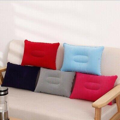 Portable Ultralight Inflatable Air Pillow Cushion Travel Hiking Camping Siesta - $4.50