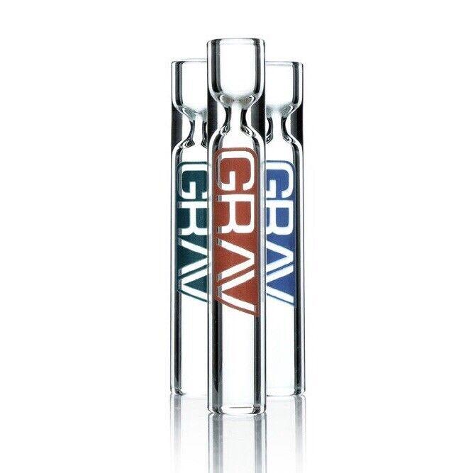 GRAV Clear 12mm Taster Chillum — 8 Colors