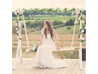 Ivory custom Justin Alexander wedding dress size 10