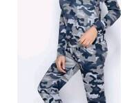 womens camouflage lounge suit s m l